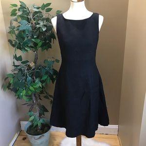Talbots Black Sleeveless Linen Fit & Flare Dress